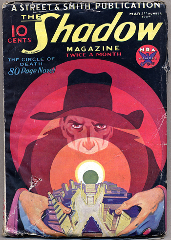 THE SHADOW MAGAZINE. 1934 THE SHADOW MAGAZINE. March 1st, No. 1 Volume 9, Maxwell Grant.