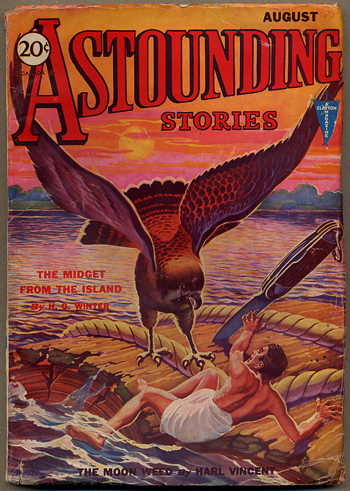 ASTOUNDING STORIES. 1931. . Harry Bates ASTOUNDING STORIES. August, No. 2 Volume 7.