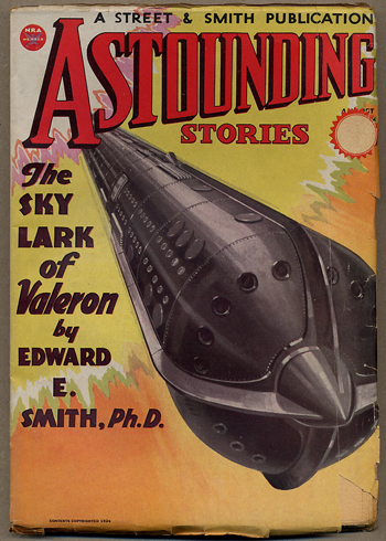 ASTOUNDING STORIES. 1934. . F. Orlin Tremaine ASTOUNDING STORIES. August, No. 6 Volume 13.