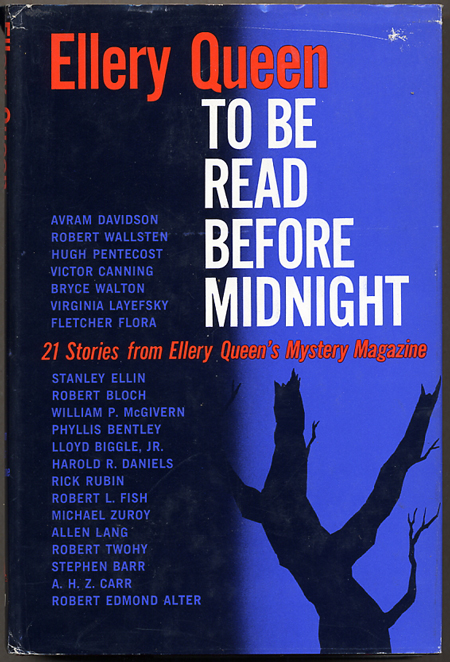 TO BE READ BEFORE MIDNIGHT: 21 STORIES FROM ELLERY QUEEN'S MYSTERY MAGAZINE. Frederic Dannay, Manfred B. Lee.