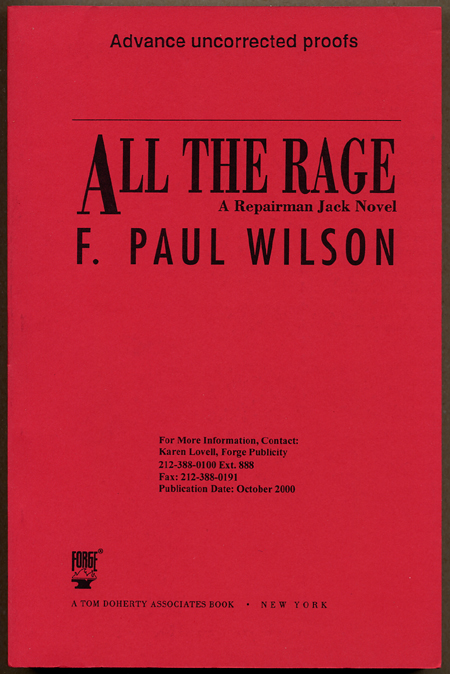 ALL THE RAGE: A REPAIRMAN JACK NOVEL. Paul Wilson, rancis.