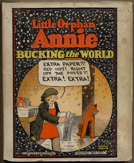 LITTLE ORPHAN ANNIE BUCKING THE WORLD.