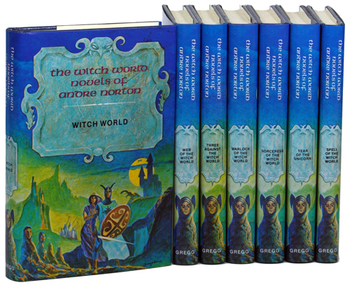 THE WITCH WORLD NOVELS: WITCH WORLD, WEB OF THE WITCH WORLD, THREE AGAINST THE WITCH WORLD, WARLOCK OF THE WITCH WORLD, SORCERESS OF THE WITCH WORLD, YEAR OF THE UNICORN & SPELL OF THE WITCH WORLD. Andre Norton, Mary Alice Norton.