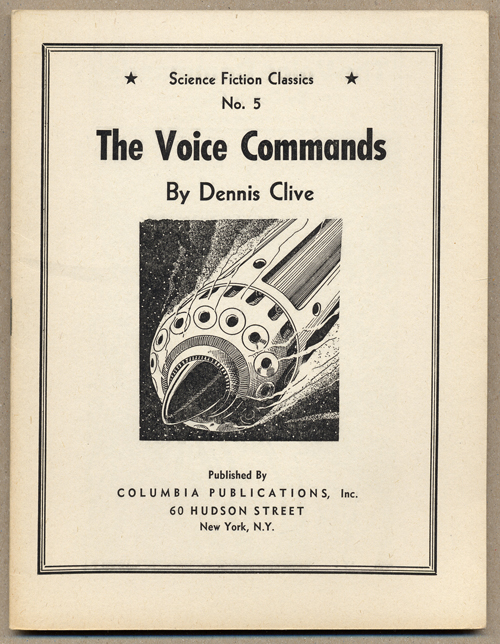 THE VOICE COMMANDS. Dennis Clive, John Russell Fearn.