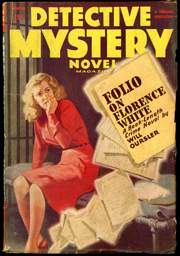 DETECTIVE MYSTERY NOVEL MAGAZINE. 1948 DETECTIVE MYSTERY NOVEL MAGAZINE. Winter, No. 3 Volume 27.