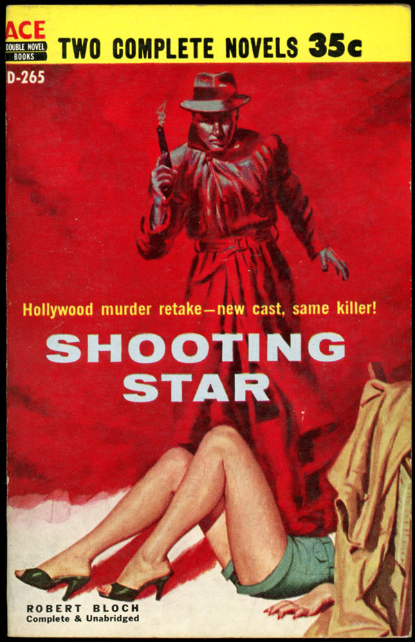 SHOOTING STAR bound with TERROR IN THE NIGHT: AND OTHER STORIES. Robert Bloch.