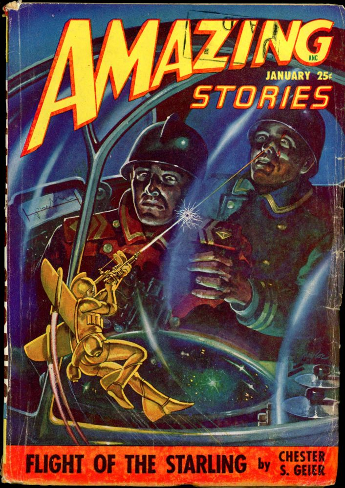 AMAZING STORIES. 1948. . AMAZING STORIES. January, Raymond A. Palmer, No. 1 Volume 22.