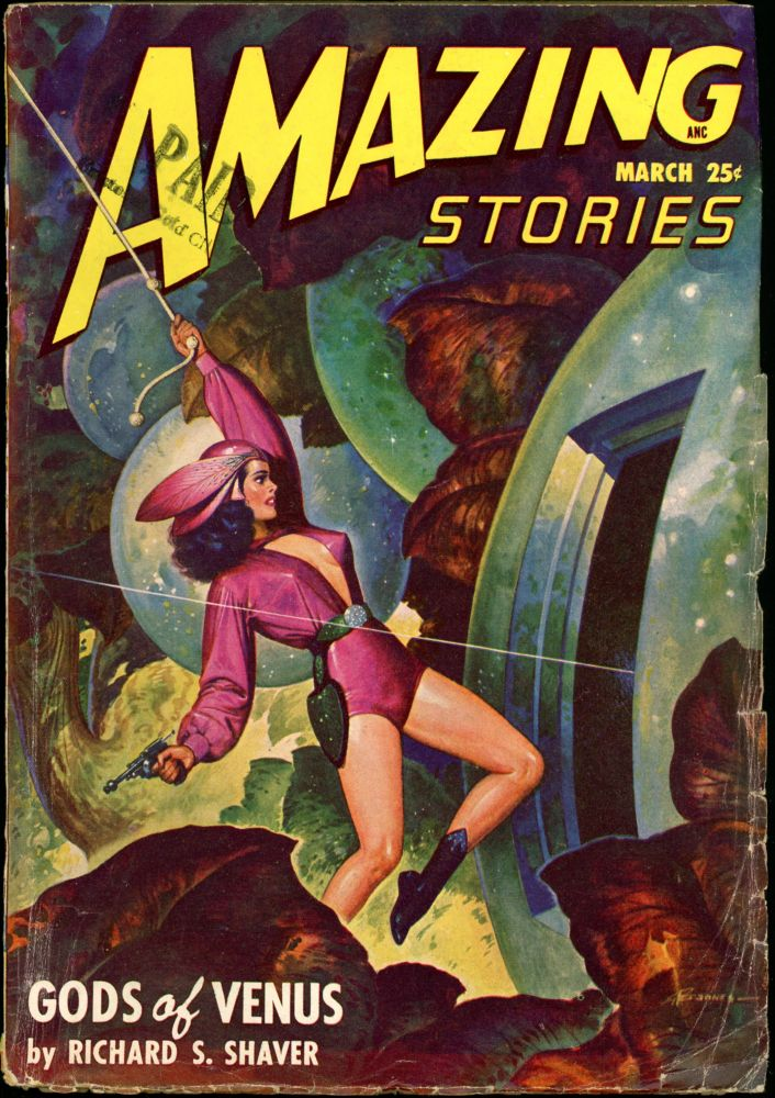 AMAZING STORIES. 1948. . AMAZING STORIES. March, Raymond A. Palmer, No. 3 Volume 22.