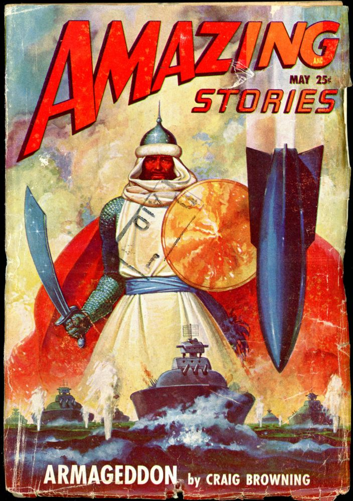AMAZING STORIES. 1948. . AMAZING STORIES. May, Raymond A. Palmer, No. 5 Vol. 22.