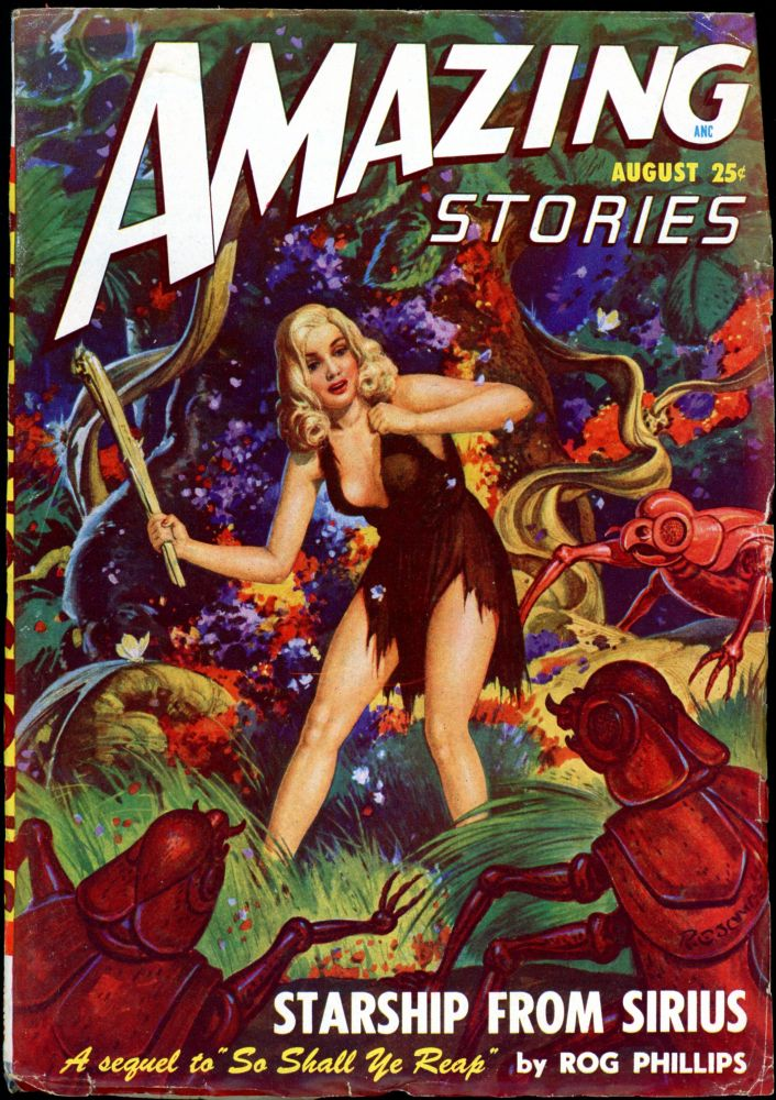 AMAZING STORIES. 1948. . AMAZING STORIES. August, Raymond A. Palmer, No. 8 Volume 22.
