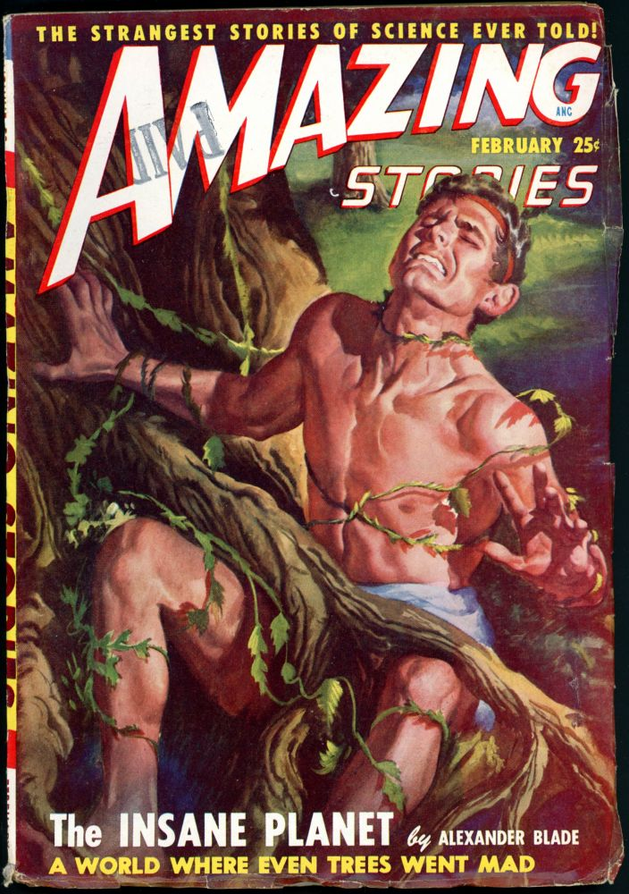 AMAZING STORIES. 1949. . AMAZING STORIES. February, Raymond A. Palmer, No. 2 Volume 23.