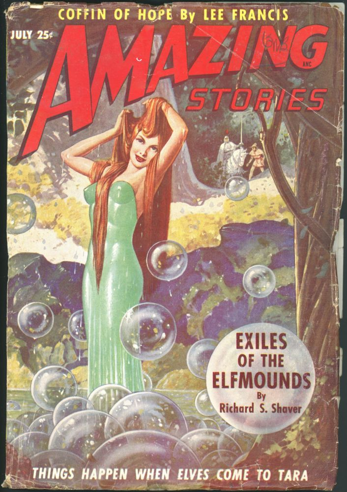 AMAZING STORIES. 1949. . AMAZING STORIES. July, Raymond A. Palmer, No. 7 Volume 23.