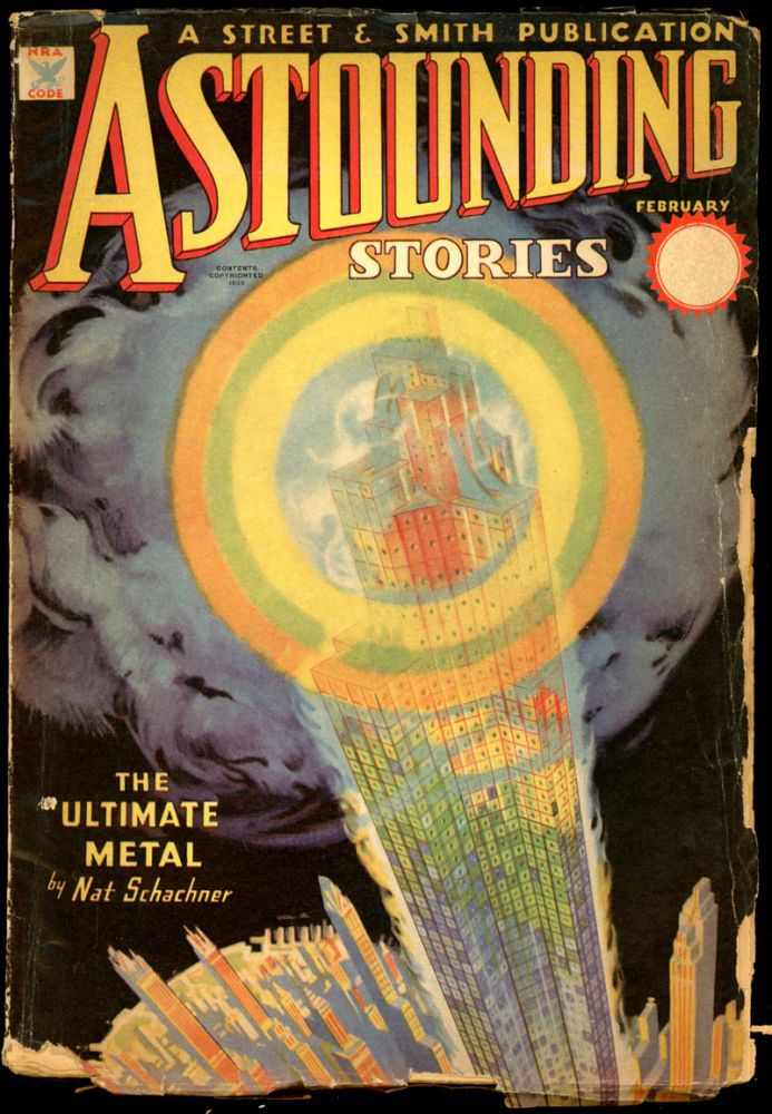 ASTOUNDING STORIES. 1935. . F. Orlin Tremaine ASTOUNDING STORIES. February, No. 6 Volume 14.