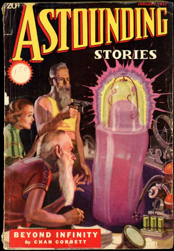 ASTOUNDING STORIES. ASTOUNDING STORIES. January 1937. . F. Orlin Tremaine, #5 Volume 18.