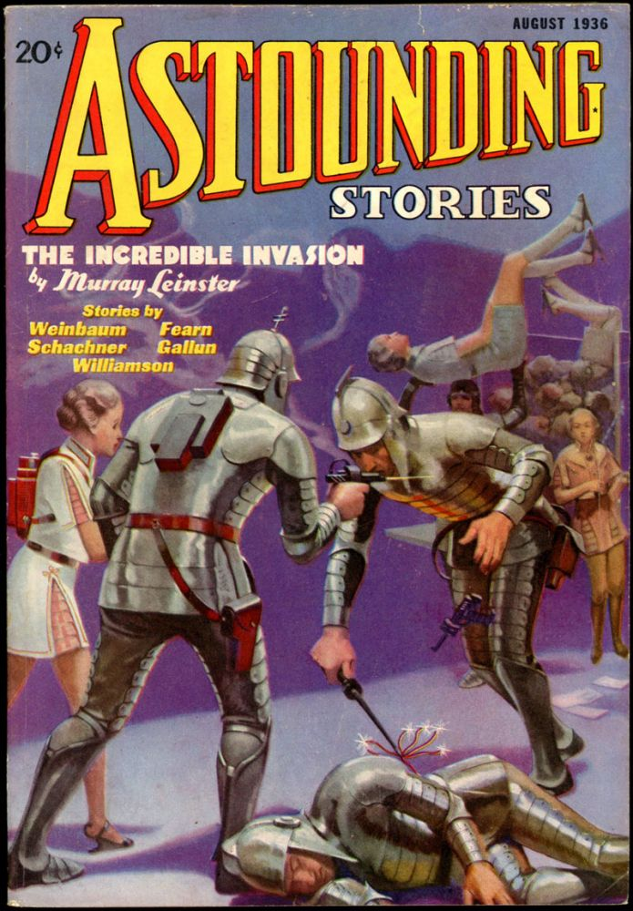 ASTOUNDING STORIES. ASTOUNDING STORIES. August 1936., #6. F. Orlin Tremaine Volume 17.