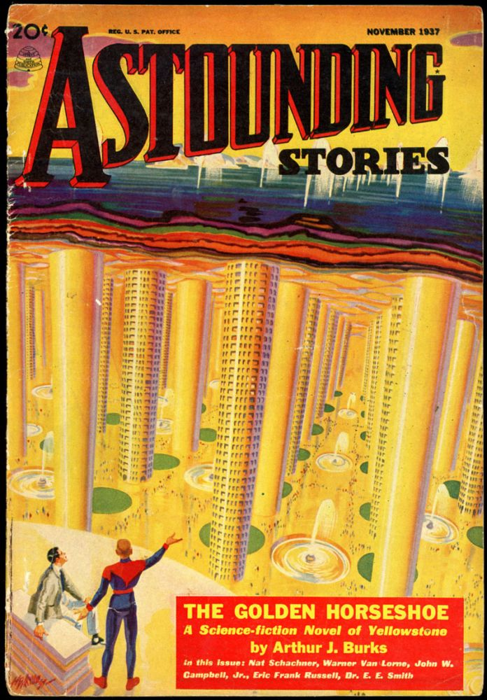 ASTOUNDING STORIES. ASTOUNDING STORIES. November 1937. . John W. Campbell Jr, No. 3 Volume 20.