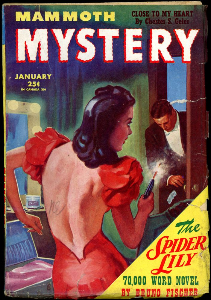 MAMMOTH MYSTERY. BRUNO FISCHER, MAMMOTH MYSTERY. January 1945 . Raymond A. Palmer, Volume 2 No. 1.