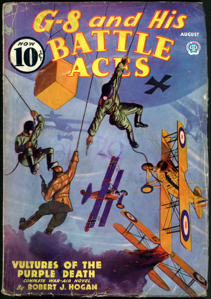 G-8 and HIS BATTLE ACES. G-8, HIS BATTLE ACES. August 1936, No. 3 Volume 9.
