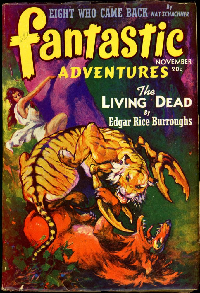 FANTASTIC ADVENTURES. Edgar Rice Burroughs, 1941. . FANTASTIC ADVENTURES. November, B. G. Davis, No. 9 Volume 3.