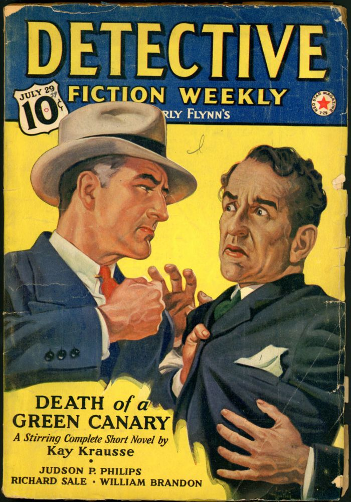 DETECTIVE FICTION WEEKLY. 1939 DETECTIVE FICTION WEEKLY. July 29, No. 1 Volume 130.