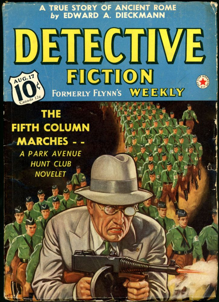 DETECTIVE FICTION WEEKLY. 1940 DETECTIVE FICTION WEEKLY. August 17, No. 2 Volume 139.