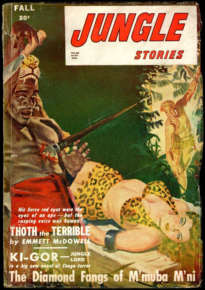 JUNGLE STORIES. 1947 JUNGLE STORIES. Fall, Volume 3 No. 12.