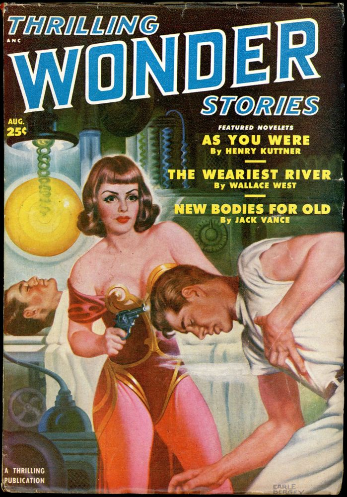 THRILLING WONDER STORIES. L. RON HUBBARD JACK VANCE, 1950. . William de Grouchy THRILLING WONDER STORIES. August, Volume 36 # 3.