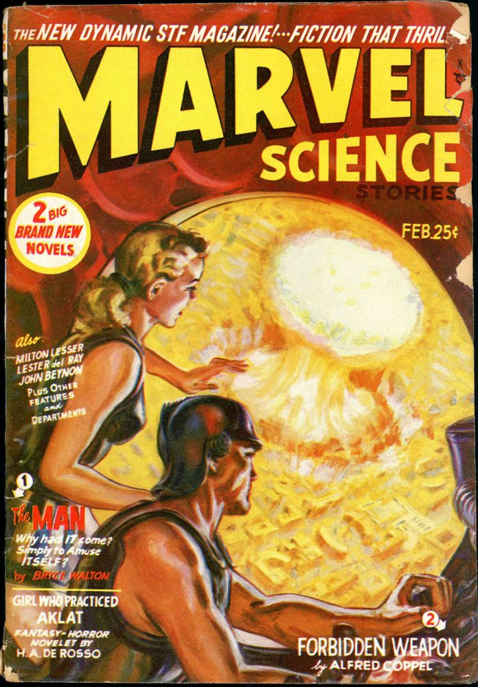 MARVEL SCIENCE STORIES. 1951. . R. O. Erisman MARVEL SCIENCE STORIES. February, ed, No. 2 Volume 3.