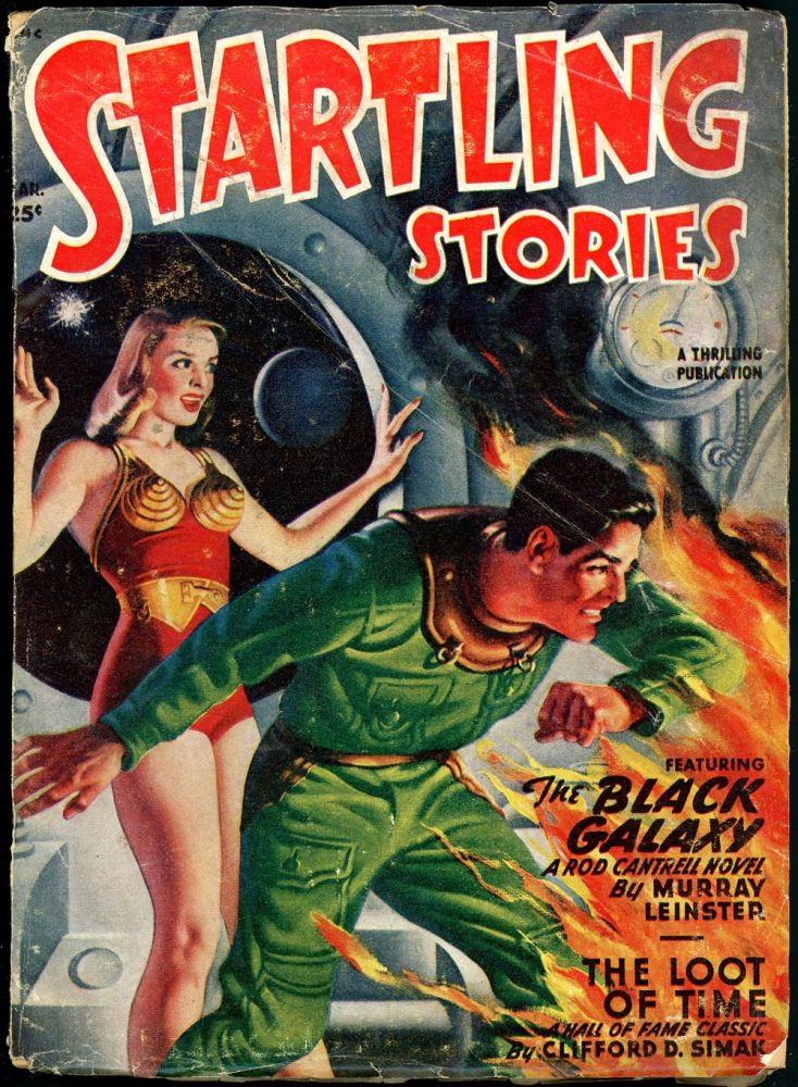 STARTLING STORIES. RAY BRADBURY. JACK VANCE. L. RON HUBBARD, 1949 STARTLING STORIES. March, #1 Volume 19.