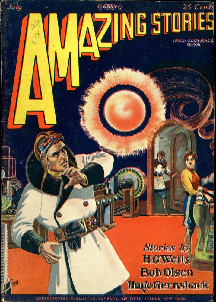 AMAZING STORIES. AMAZING STORIES. July 1928. ., Hugo Gernsback, No. 4 Volume 3.