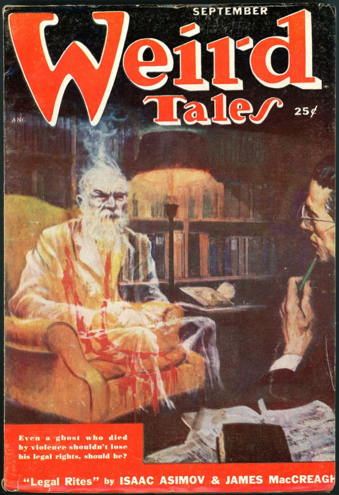 WEIRD TALES. WEIRD TALES. September 1950. . Dorothy McIlwraith, No. 6 Volume 42.