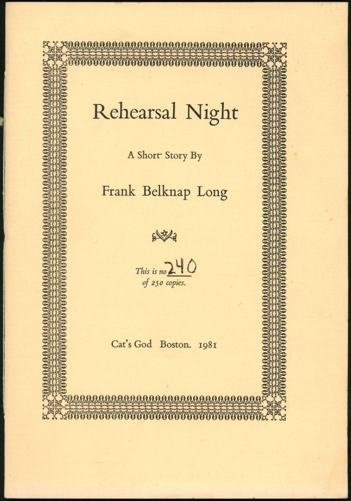 REHEARSAL NIGHT: A SHORT STORY