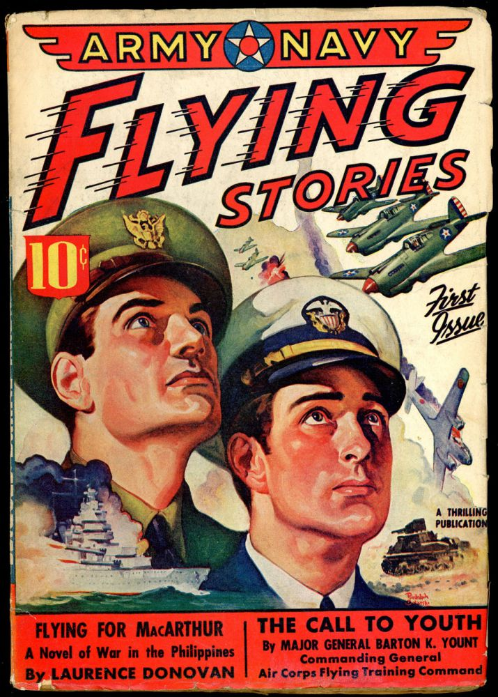ARMY NAVY FLYING STORIES. ARMY NAVY FLYING STORIES., May 1942., No. 1 Volume 1.