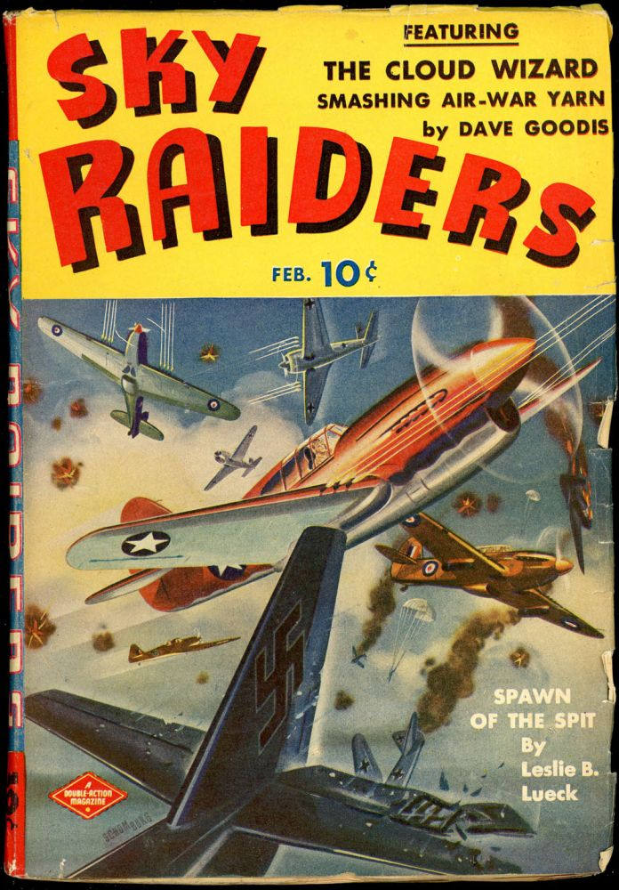 BATTLE ACES. David Goodis, SKY RAIDERS. February 1943, No. 3 Volume 1.