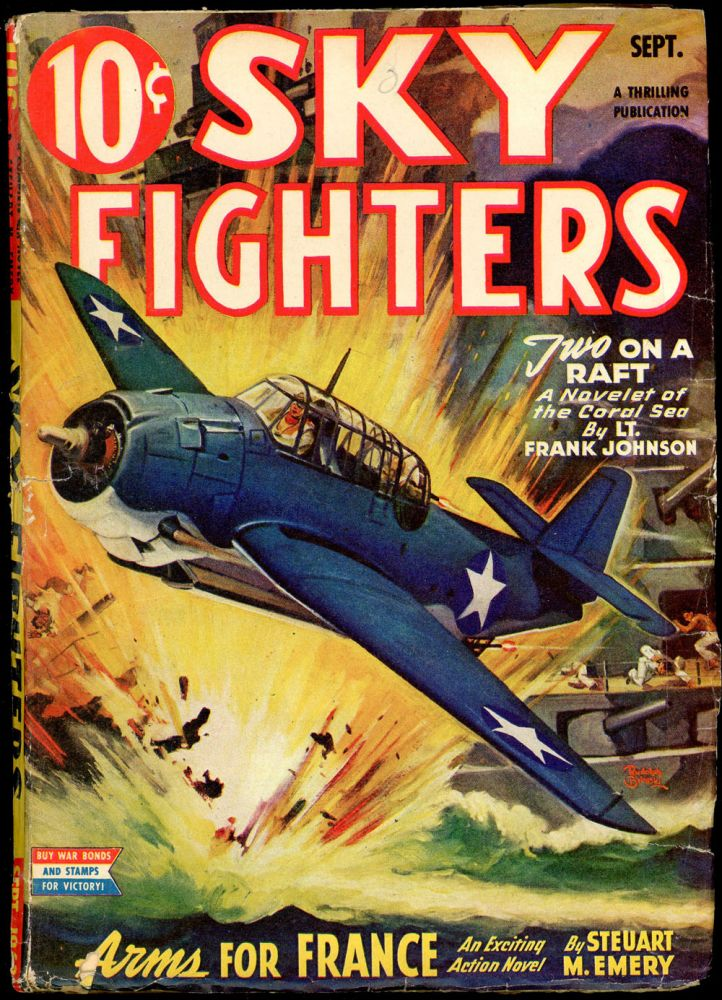 SKY FIGHTERS. Louis L'Amour, SKY FIGHTERS. September 1943. . Lt. Edward McCrae, No. 3 Volume 29.