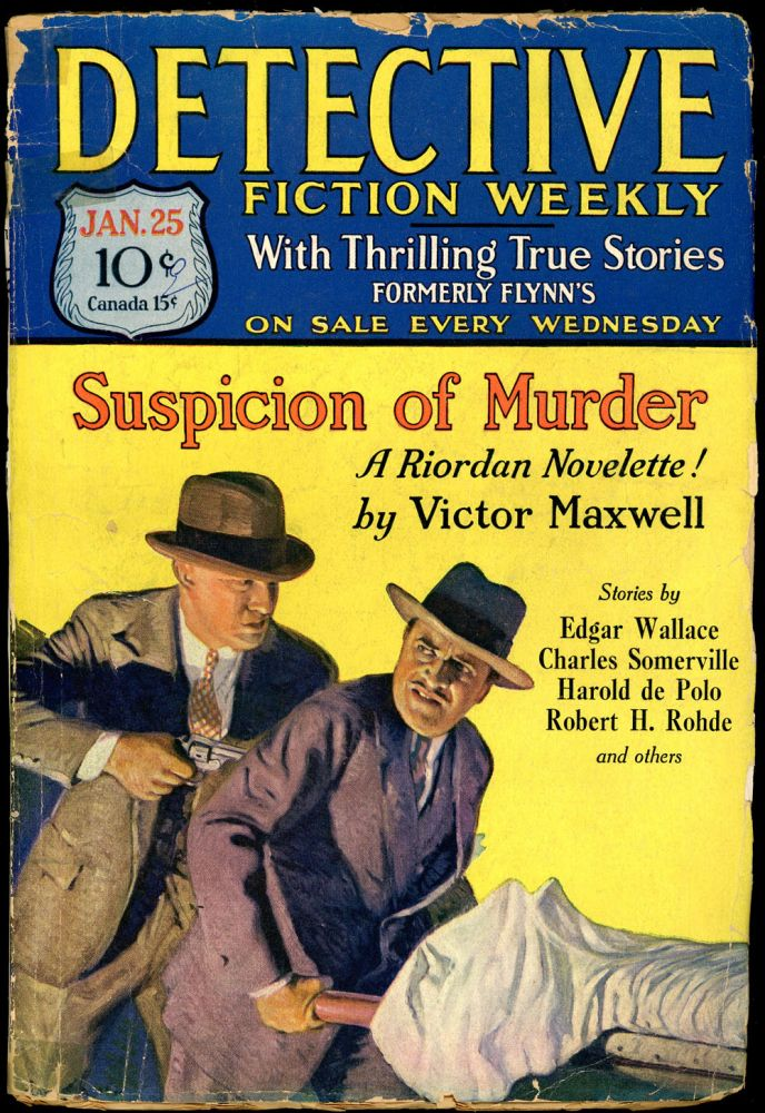 DETECTIVE FICTION WEEKLY. 1930 DETECTIVE FICTION WEEKLY. January 25, No. 4 Volume 47.