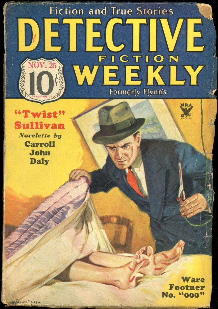 DETECTIVE FICTION WEEKLY. 1933 DETECTIVE FICTION WEEKLY. November 25, No. 5 Volume 80.