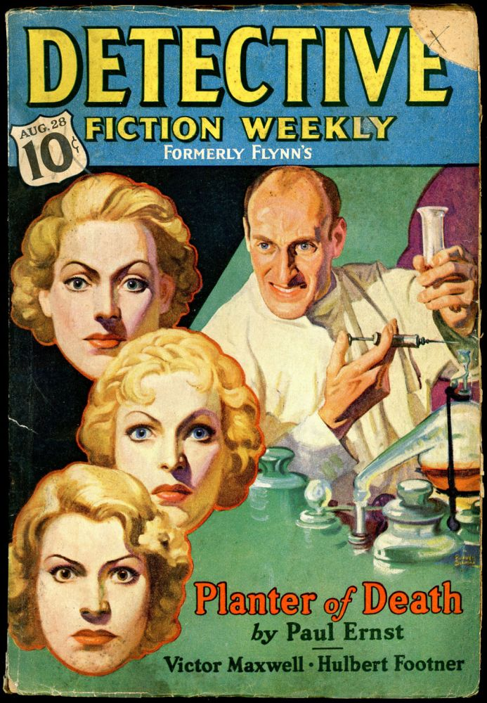 DETECTIVE FICTION WEEKLY. 1937 DETECTIVE FICTION WEEKLY. August 28, No. 3 Volume 113.