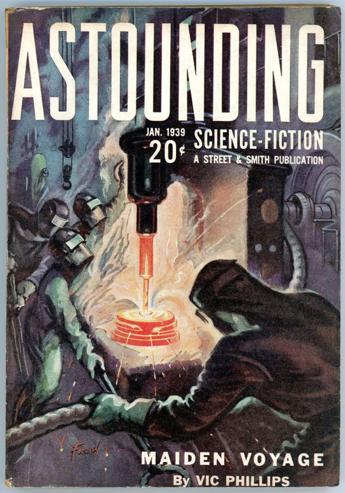 ASTOUNDING SCIENCE FICTION. ASTOUNDING SCIENCE FICTION. January 1939. . John W. Campbell Jr, No. 5 Volume 22.