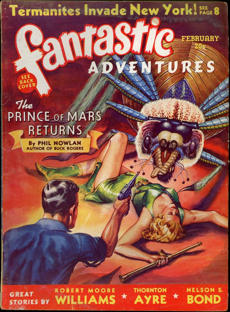 FANTASTIC ADVENTURES. 1940. . FANTASTIC ADVENTURES. February, B. G. Davis, No. 2 Volume 2.