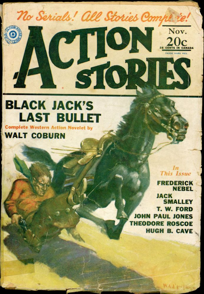 ACTION STORIES. 1929 ACTION STORIES. November, No Volume 9, 3.