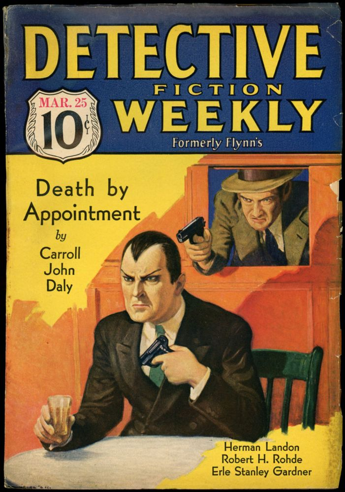 DETECTIVE FICTION WEEKLY. 1933 DETECTIVE FICTION WEEKLY. March 25, No. 1 Volume 75.