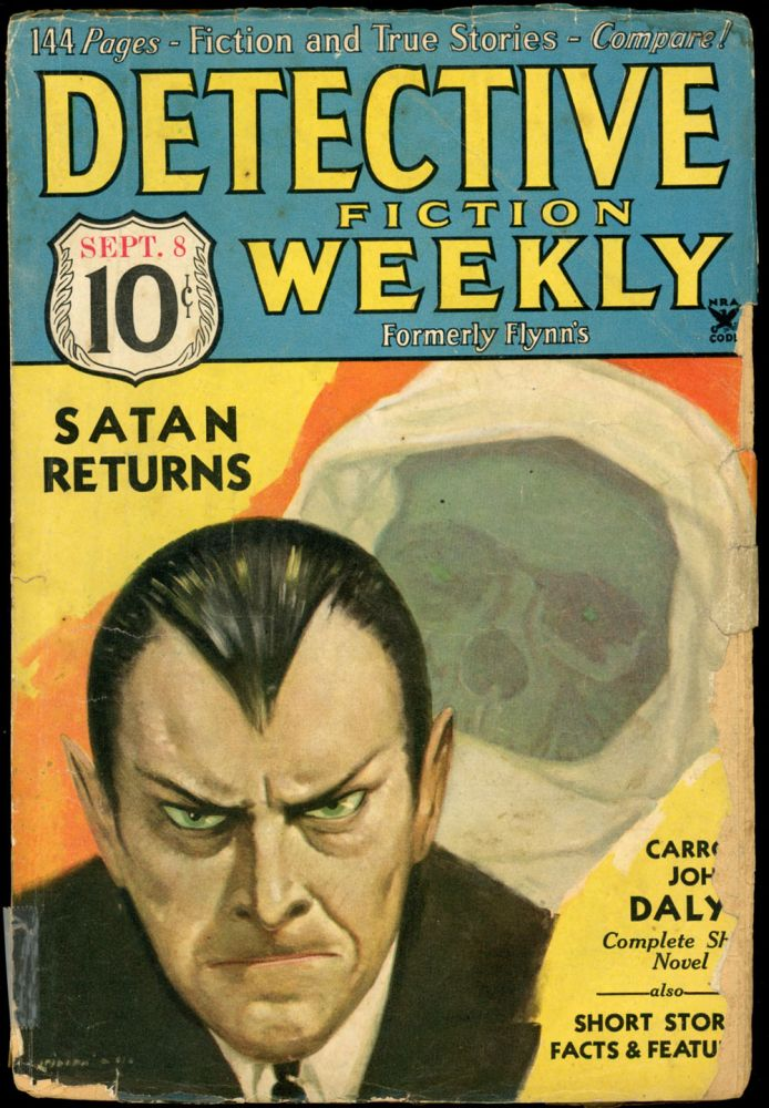 DETECTIVE FICTION WEEKLY. 1934 DETECTIVE FICTION WEEKLY. September 8, No. 4 Volume 87.