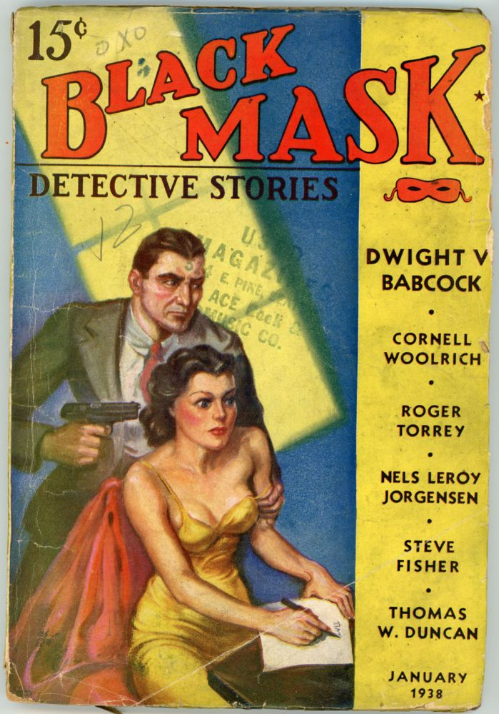 BLACK MASK. 1938. . Ellsworth BLACK MASK. January, No. 2 Volume 20, anny.