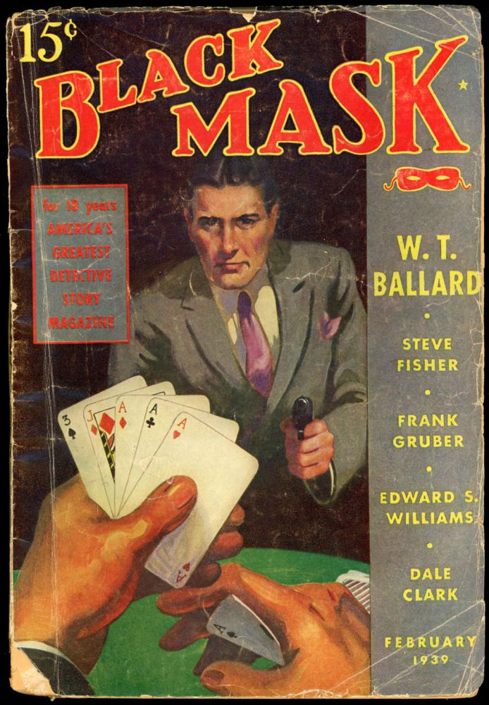 BLACK MASK. 1939. . Ellsworth BLACK MASK. February, No. 11 Volume 21, anny.