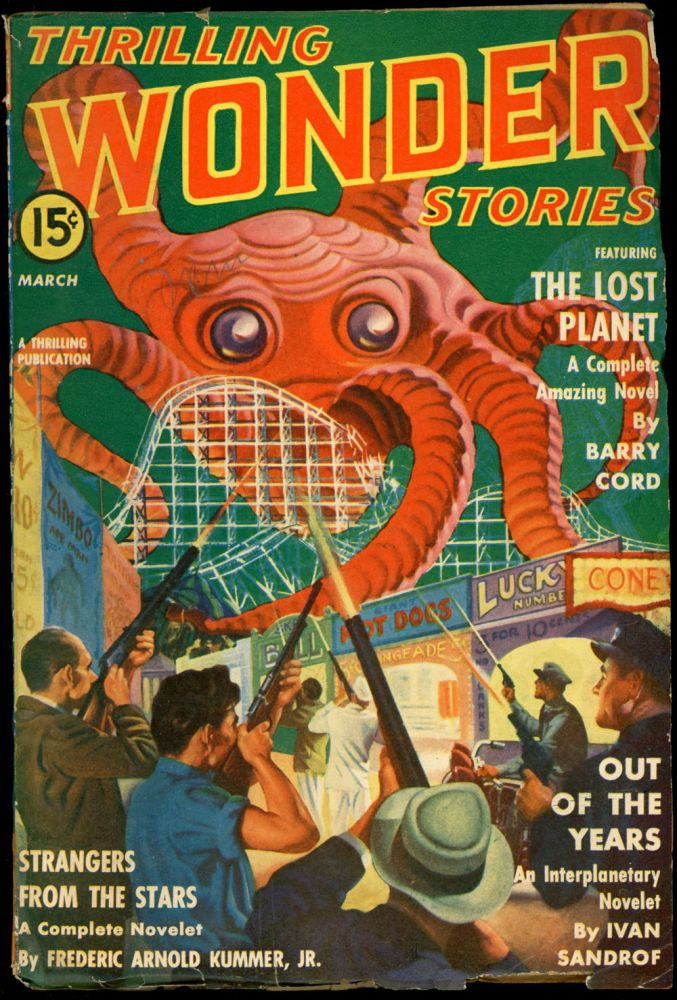 THRILLING WONDER STORIES. THRILLING WONDER STORIES. March 1941, No. 3 Volume 19.