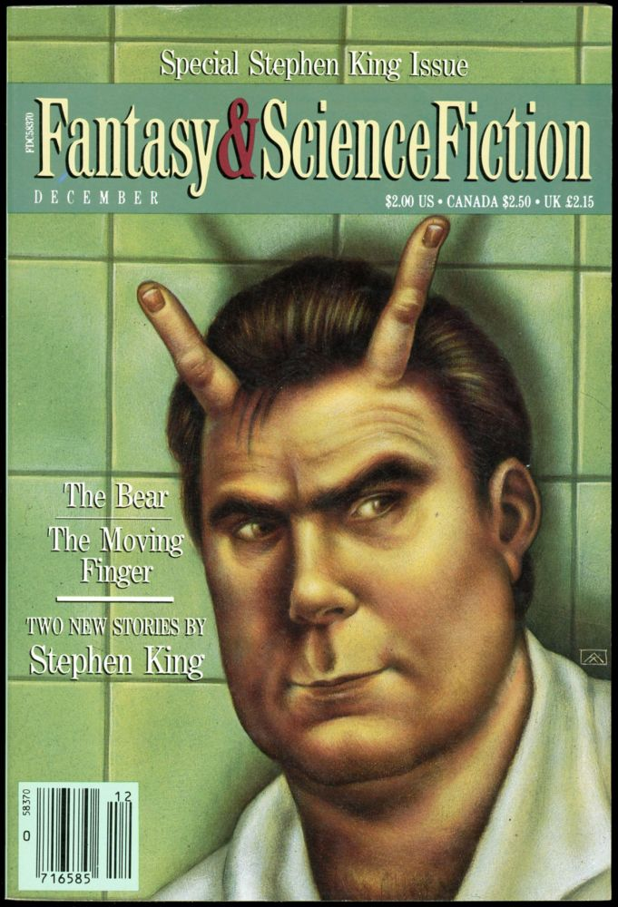 THE MAGAZINE OF FANTASY AND SCIENCE FICTION. Stephen King, No. 6 Volume 79, Whole number 475.
