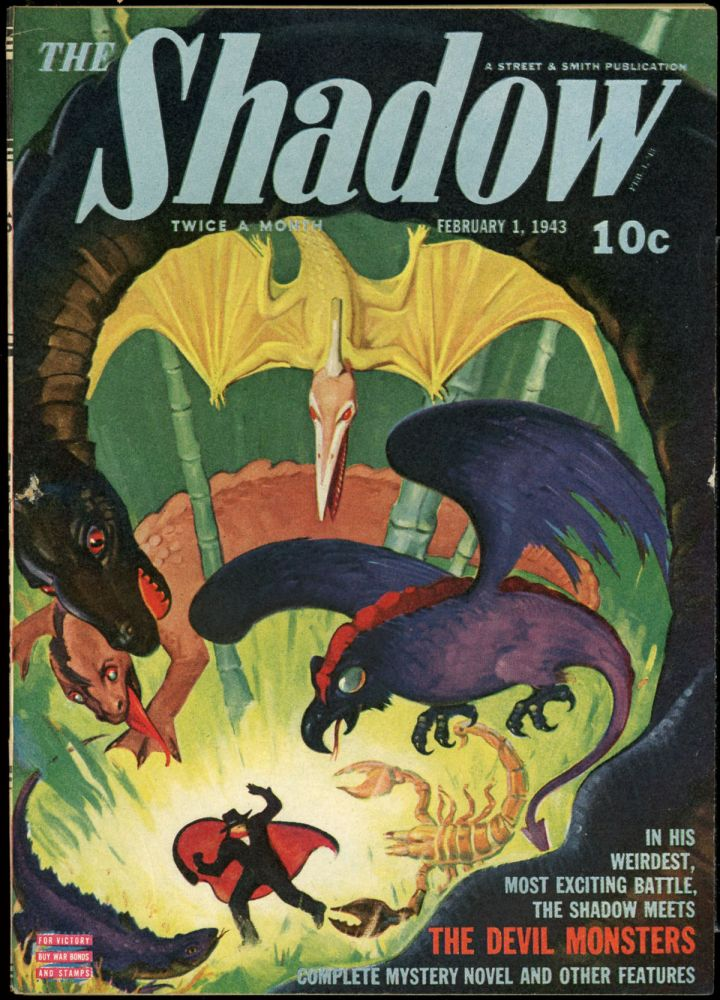 THE SHADOW. 1943 THE SHADOW. February 1, no. 6 Volume 44, Maxwell Grant.