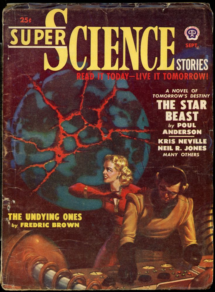 SUPER SCIENCE STORIES. JACK VANCE, 1950 SUPER SCIENCE STORIES. September, No. 2 Volume 7, L. RON HUBBARD.