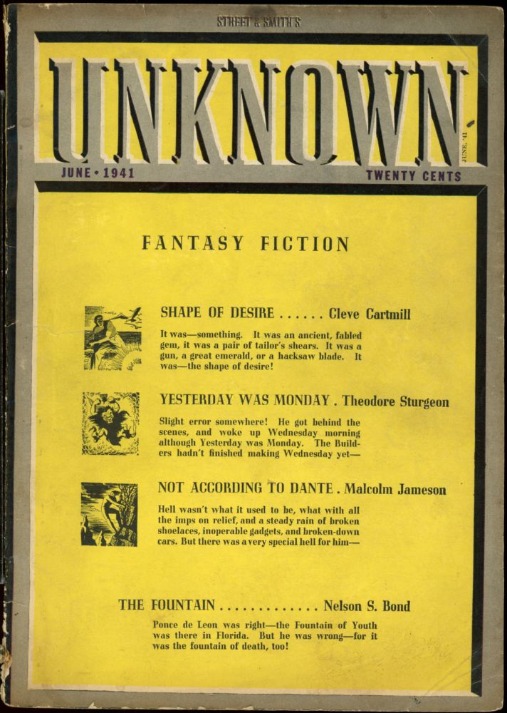 UNKNOWN. UNKNOWN. June 1941. ., John W. Campbell Jr, No. 1 Volume 5.
